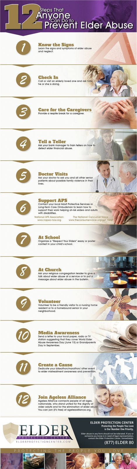12 Steps that Anyone Can Do to Prevent Elder Abuse